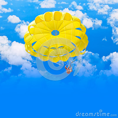 Female parachutist