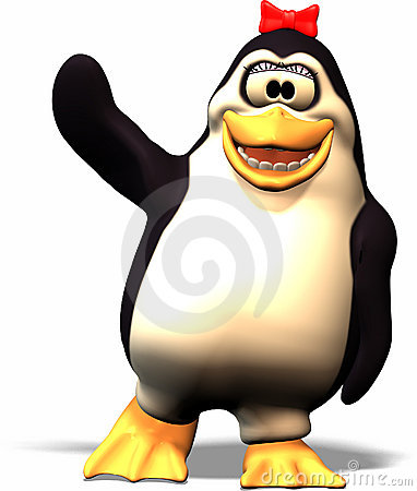 Free Female Penguin Royalty Free Stock Photography - 636427