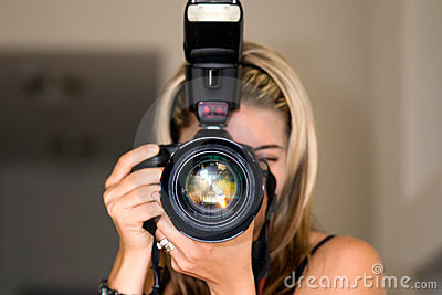 Female photographer.