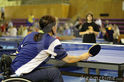 Female ping pong player
