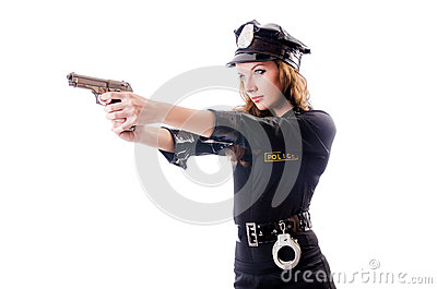 Female police isolated