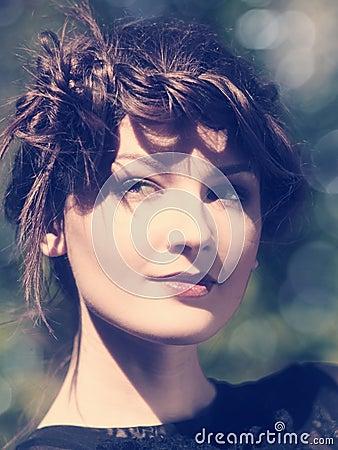 female portrait with beauty bokeh