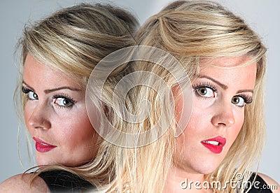 Female portrait -double / twins