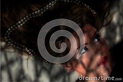 Female portrait in shadows