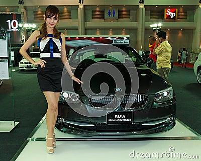 Female presenter of BMW Editorial Image