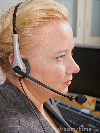 Female Receptionist Royalty Free Stock Image - Image: 12159856