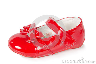 Female red shoes
