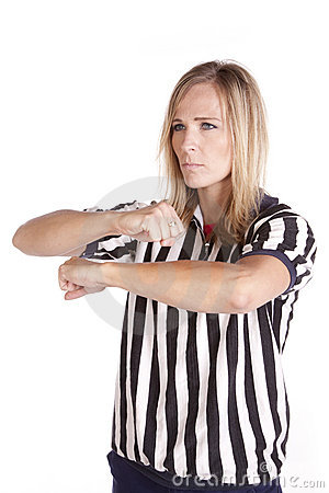 Female referee call traveling