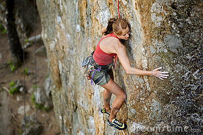 Female Rock Climbing