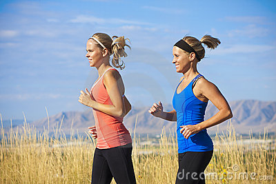 Female Runners on a jog