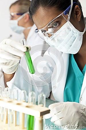 Female Scientific Research Team In Laboratory