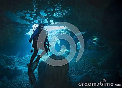 Female Scuba Diver - Vortex Springs Cavern