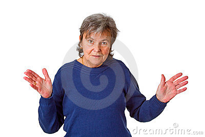 Female Senior With Open Arms Royalty Free Stock Images - Image: 24160929
