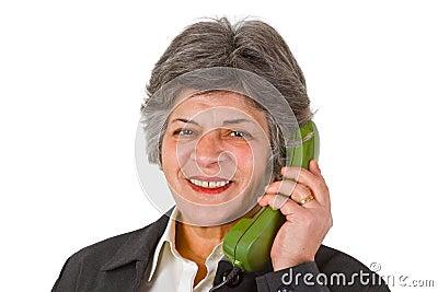 Female senior on phone