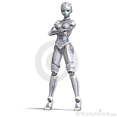 Female Sexy Metallic Robot. 3D Rendering With Royalty Free ... Soccer Ball Vector Png