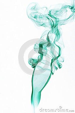 Female shape made of smoking fume