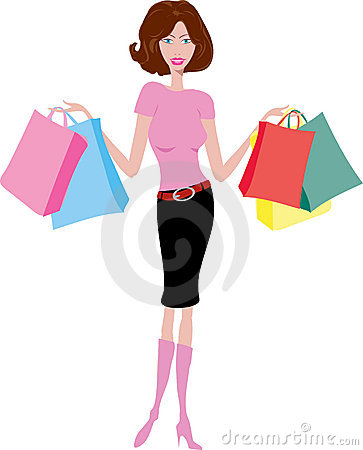 Free Female Shopper Royalty Free Stock Photography - 1250077