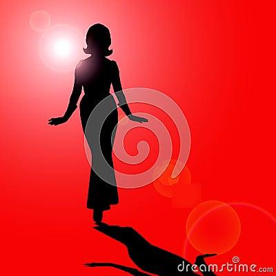 Free Female Silhouette Stock Image - 2960441