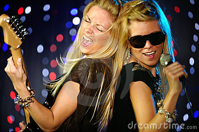 Female singer and guitar player