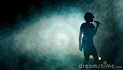Female Singer in Smoke