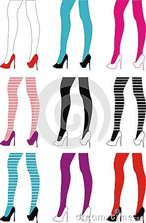 female slender legs
