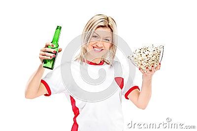 Female sport fan