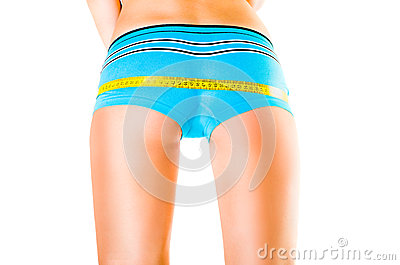 Female  sporting buttocks