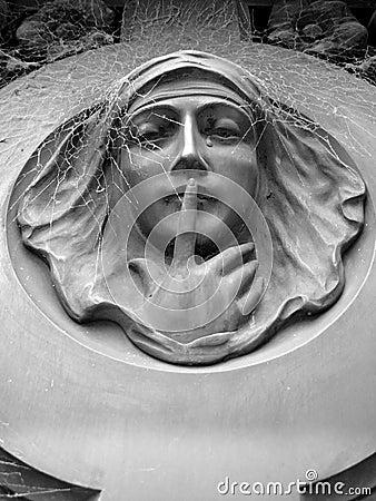Female Statue in a Cementary