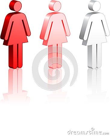 Free Female Stick Figures Stock Photos - 36617803