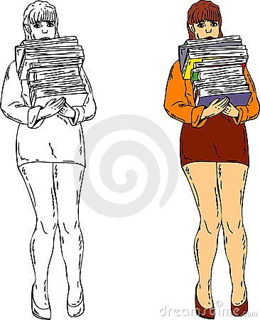 Female student with book