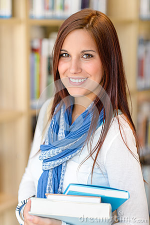 Free Female Student Carry Education Books From Library Royalty Free Stock Photography - 26248557
