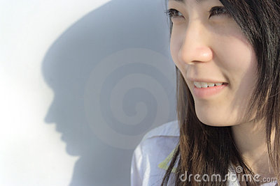 Female student and her Shadow