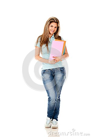 Female student isolated