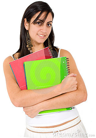Female student - notebooks