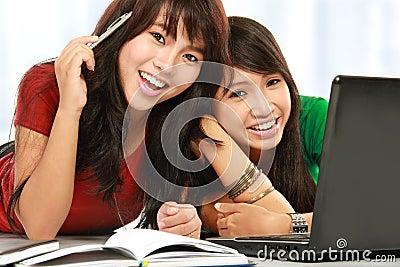 Female student smiling