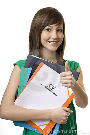Free Female Student With Briefcase CV, Curriculum Vitae Royalty Free Stock Photo - 8443945