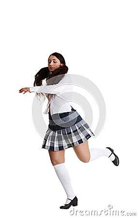 Female tap dancer