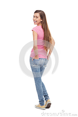 Female teenager standing