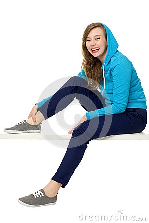 Free Female Teenager Wearing Hooded Top Royalty Free Stock Photo - 24683975