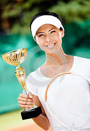 Female tennis player won the competition