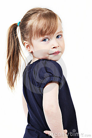 Female toddler with ponytail