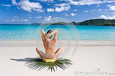 Female tropical beach