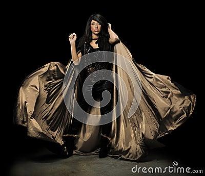 Female Vampire With Cloak