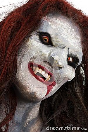 Female vampire like creature