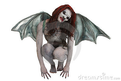 Female vampire like creature