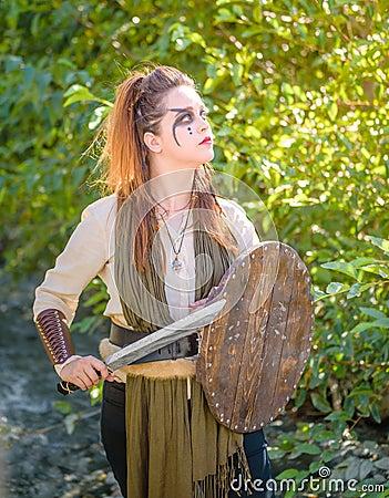 Free Female Viking Character Stock Photography - 130630832