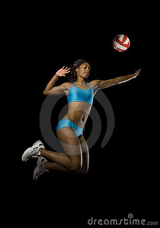 Free Female Volleyball Spike Royalty Free Stock Images - 6011979