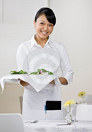 Female waitress
