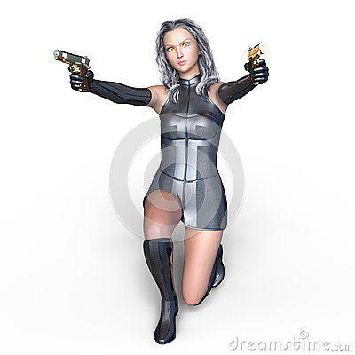 Female warrior Stock Photo