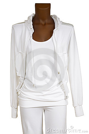 Female white tracksuit